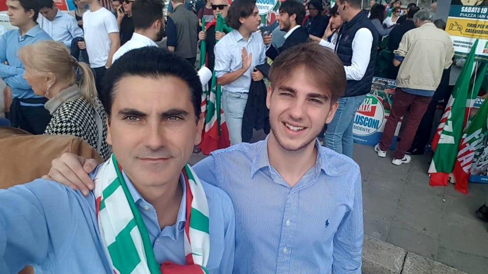 Vittorio Acocella con il giovane Davide Pazzanese-2