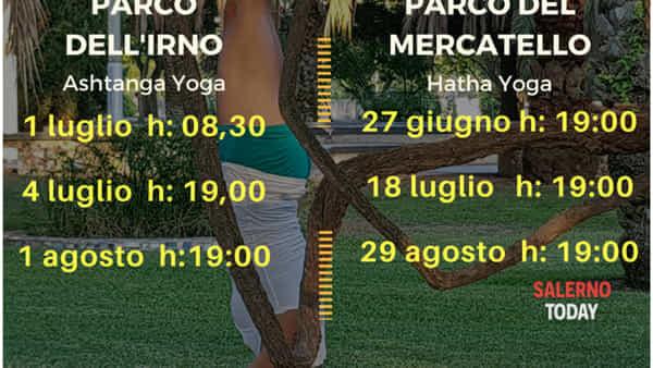 """Ritorna """"Yoga nei parchi"""" a Salerno: lezioni gratuite aperte a tutti"""