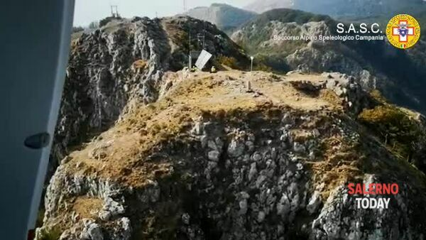 Infortunio sul Monte Faito: il video dei soccorsi