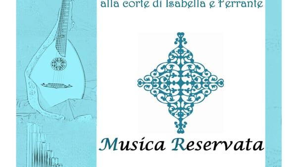 """""""Musica Reservata"""" in concerto il 24 settembre all'Arco Catalano"""