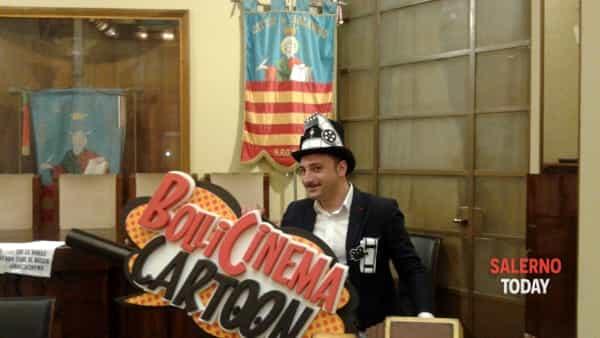"""Pellicola e sapone: lo show """"Bollicinema"""" presentato al Comune di Salerno"""