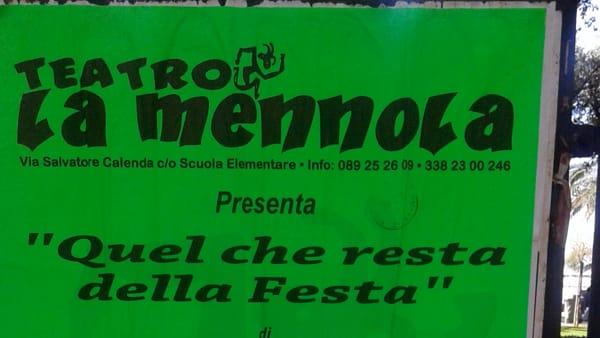 """Il 22 e 23 ottobre, il Teatro La Mennola presenta """"Quel che resta della festa"""""""