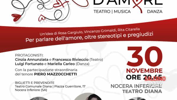 """Il 30 novembre la prima nazionale di """"Intrecci d'amore"""" al teatro Diana"""