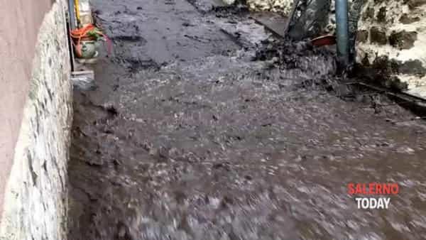 Un fiume di fango a Castel San Giorgio: il video