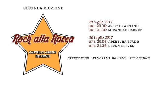 """""""Rock alla Rocca"""": musica e street food al Castello Arechi"""