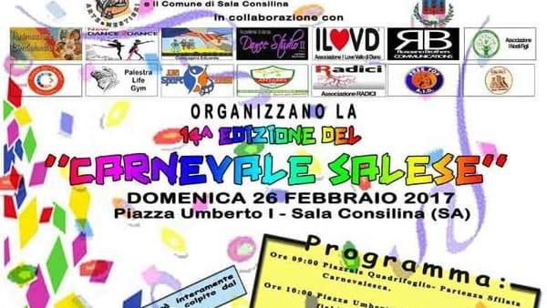 "Carnevale di solidarietà a Sala Consilina: incasso devoluto ai ""gemellati"" di Camerino"