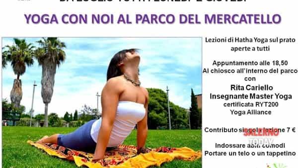 Yoga al Parco del Mercatello a Salerno
