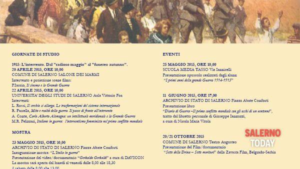 Si rivivono gli eventi della Prima Guerra Mondiale a Salerno