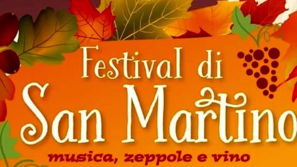 """Festival di San Martino: il """"menù"""" prevede musica, zeppole e vino"""