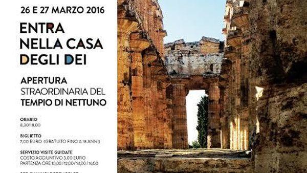 Apertura straordinaria per Pasqua del Tempio di Nettuno a Paestum