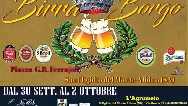 """A Sant'Egidio del Monte Albino, """"Birra in Borgo"""" dal 30 settembre al 2 ottobre"""