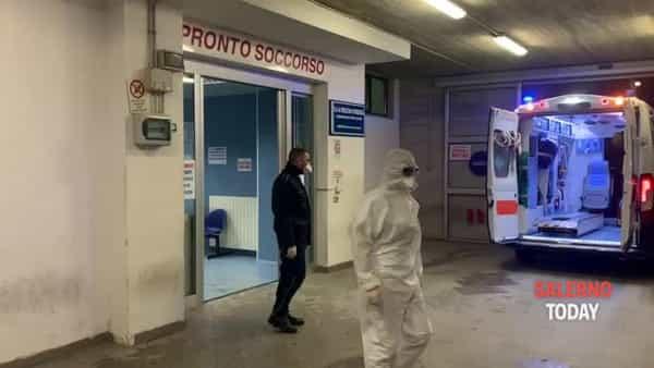 Coronavirus, paziente trasportata da Vallo a Napoli: ecco il video