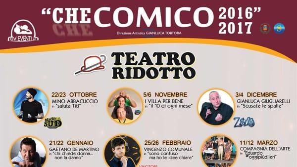 """Al Teatro Ridotto, """"Saluta Titì"""" con Mino Abbacuccio, sabato 22 e domenica 23 ottobre"""