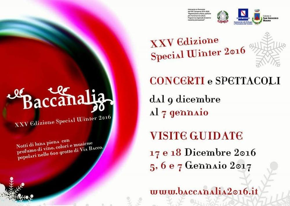 Baccanalia rinvio al 28-29 gennaio 2017