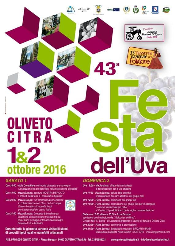 Oliveto Citra, sagra dell'uva, 1-2-ottobre