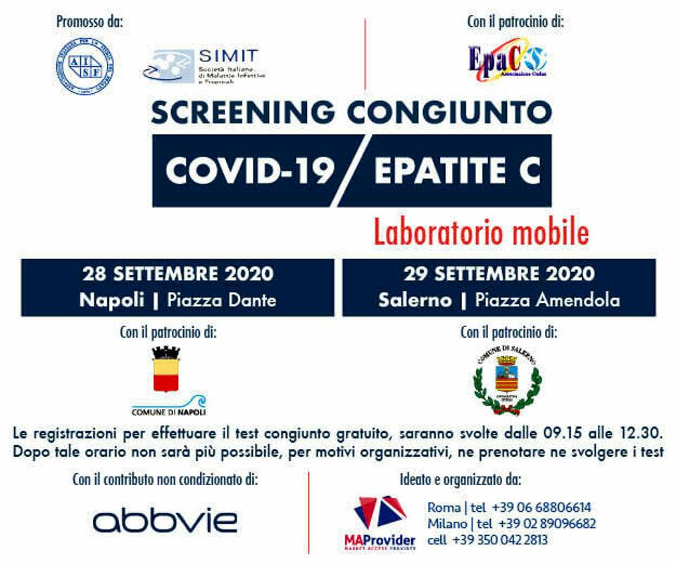 Test Sierologici Gratuiti Per Covid 19 E Epatite C L Iniziativa A Salerno