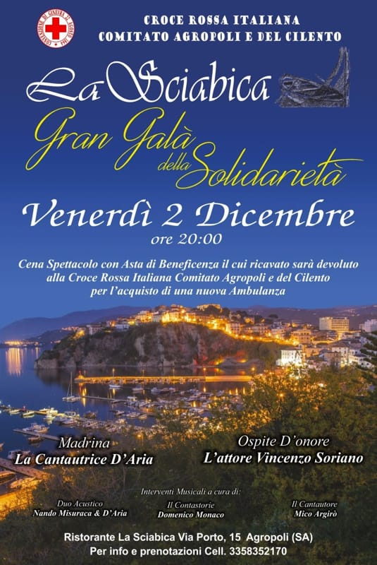 Cena solidarietà, Agropoli, 2 dicembre
