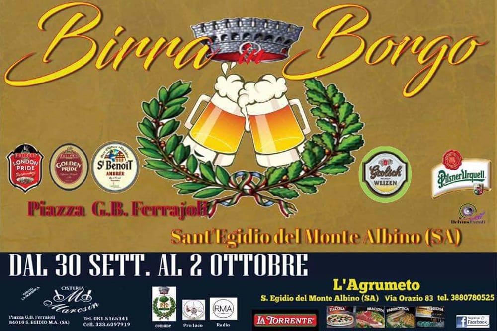 Birra in borgo, Sant'Egidio del Monte Albino, 30 settembre-2 ottobre