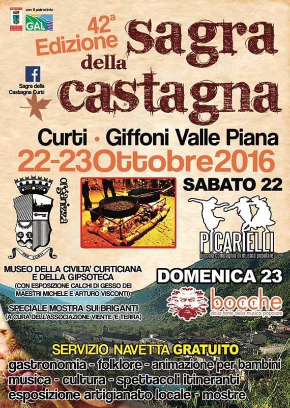 sagra della castagna, Giffoni Valle Piana, 22-23 ottobre