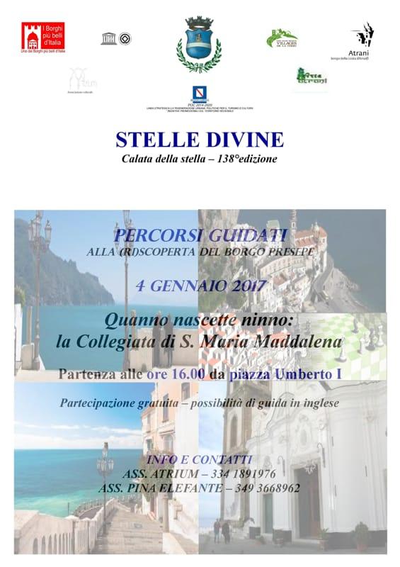 """Atrani, """"Stelle Divine"""", 4-7 gennaio 2017"""